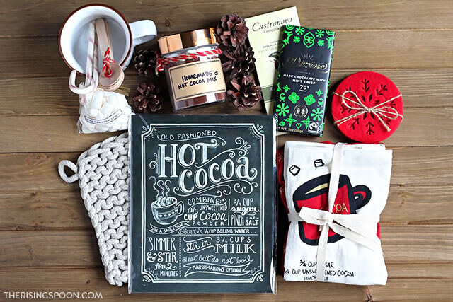 Supplies For Hot Cocoa (or Hot Chocolate) Gift Basket