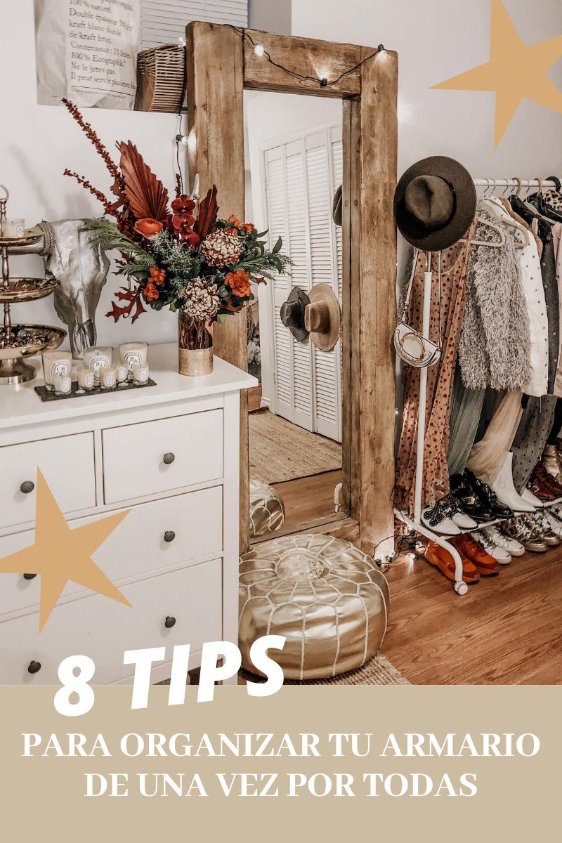 Tips para organizar el armario