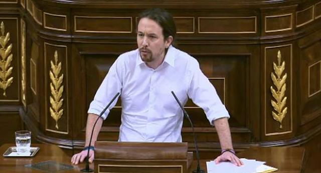 """Pablo Iglesias a Rajoy: """"El PP ha aumentado el número de ciudadanos en riesgo de pobreza"""""""