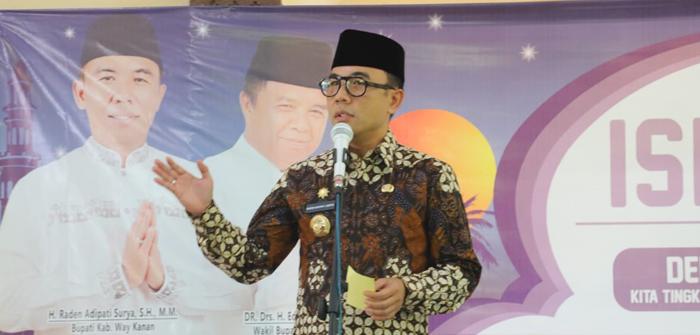 Tingkatkan Iman, Bupati Waykanan Ajak Warga Peringati Hari Besar Islam