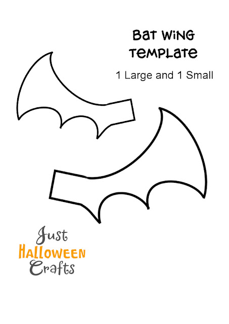 Free printable bat wing template from Just Halloween Crafts