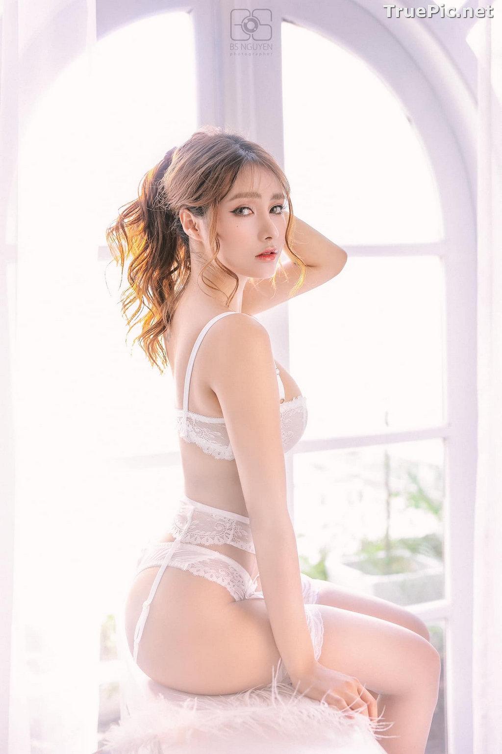 Image Vietnamese Model - Nguyen Thi Phi Yen - Beautiful Sexy White Lingerie - TruePic.net - Picture-5