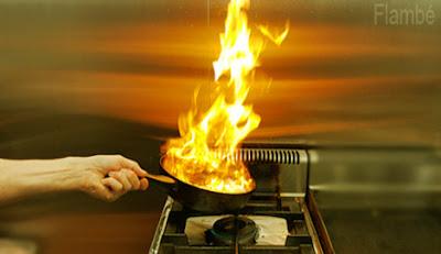 Flambé food