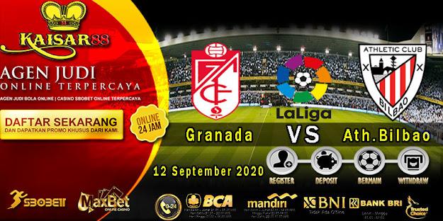 Prediksi Bola Terpercaya Liga Spanyol Granada vs Ath.Bilbao 12 September 2020