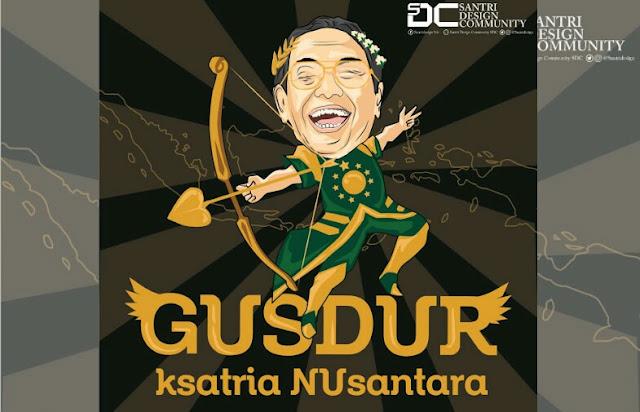 Gus Dur Sang Ksatria Sejati, Tidak Mangkir dari Panggilan Polisi dan Tanpa Rombongan Massa