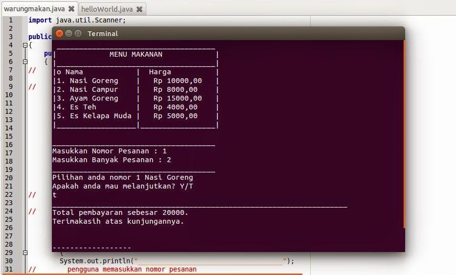 Membuat Kasir Sederhana Dengan Java Netbeans