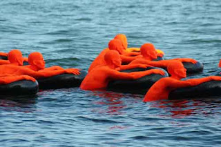 Safety Orange Swimmers Lake Ontario