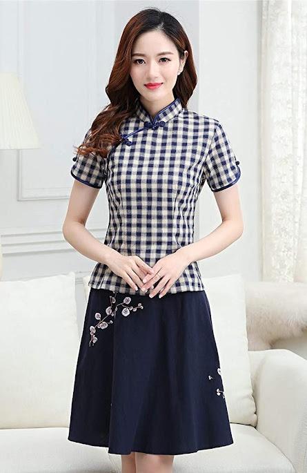 Cotton Cheongsam Dresses For Women