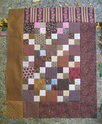50 Shades of Brown sew-along quilt