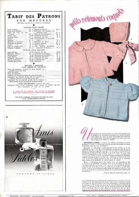 magazine mode et travaux octobre 1942 vêtements pour bébés