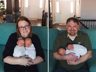الزوجين Lyndsay و Matthew Brentlinger  بعد ان رزقا بتوأم صبي وبنت وبعد معاناة لسنوات طويله فرحة لم يتبقي منها غير مجموعة صوره !