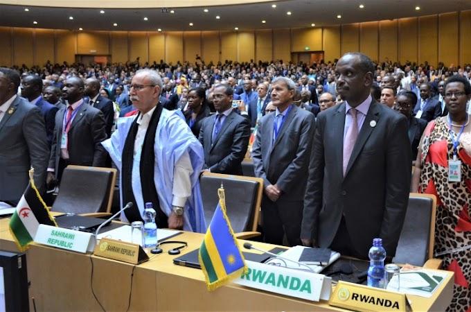 دعم زعماء إفريقيا للجمهورية الصحراوية أثبتت تمسك الإتحاد الإفريقي بمبادئه وقانونه التأسيسي في وجه سياسة الإحتلال. (جبهة البوليساريو)