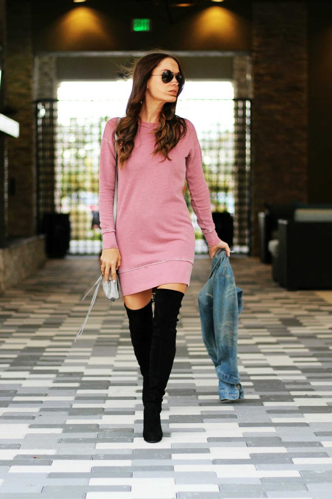 Stuart Weitzman over the knee boots outfit