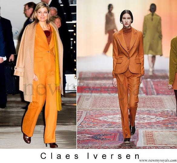 Queen Maxima wore CLAES IVERSEN Pan Suit - AW2015