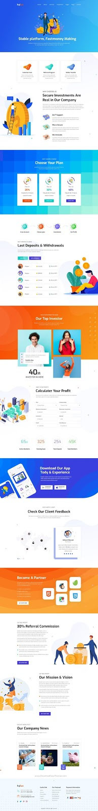 Download Investment Business Template