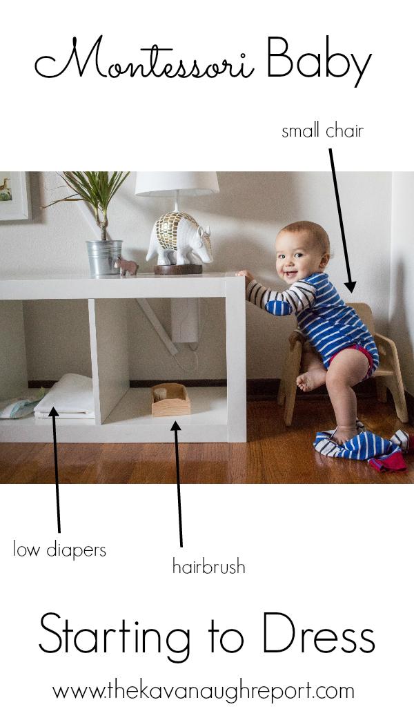 Starting To Dress Montessori Baby Week 49