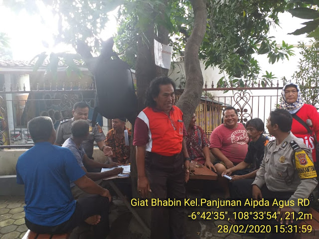 Sambang Warga, Sarana Bhabinkamtibmas Kel. Panjunan Aipda Agus RD Polsek Lemah Wungkuk Polres Cirebon Kota
