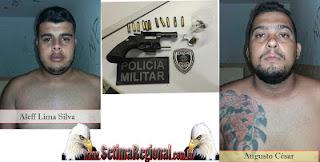 Polícias Civil e Militar Prendem dupla campinense que iria realizar assaltos em Picuí