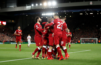image of Liverpool players celebrating