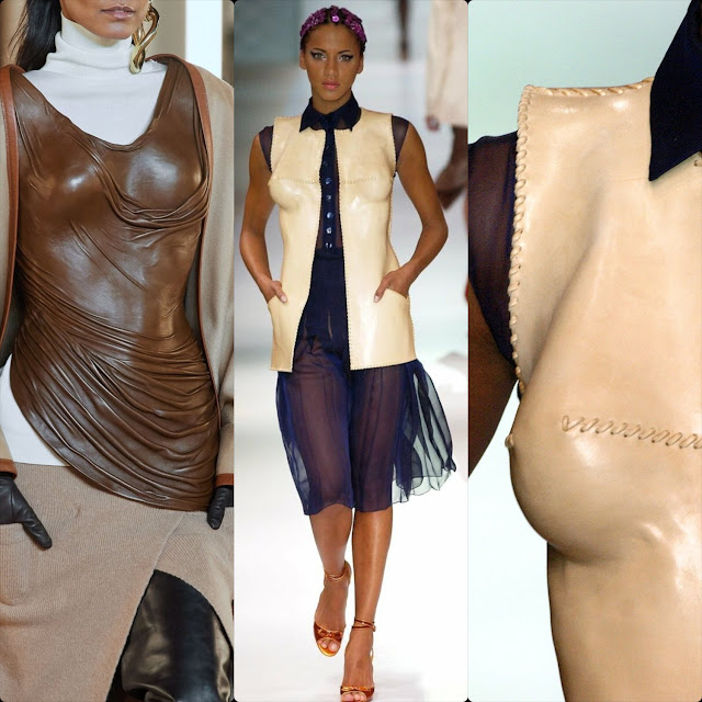 Balmain Fall Winter 2020 -2021 vs Jean Paul Gaultier Spring Summer 2003 Haute Couture – leather corset