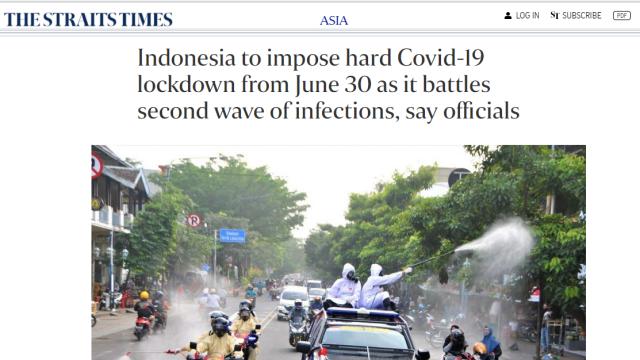 Media Singapura Ungkap Rencana Indonesia akan 'Lockdown' Mulai Rabu 30 Juni