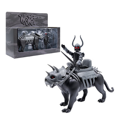 The Four Worstmen of the Apocalypse Black Falcon with Famine Puma ReAction Figure Set by Super7