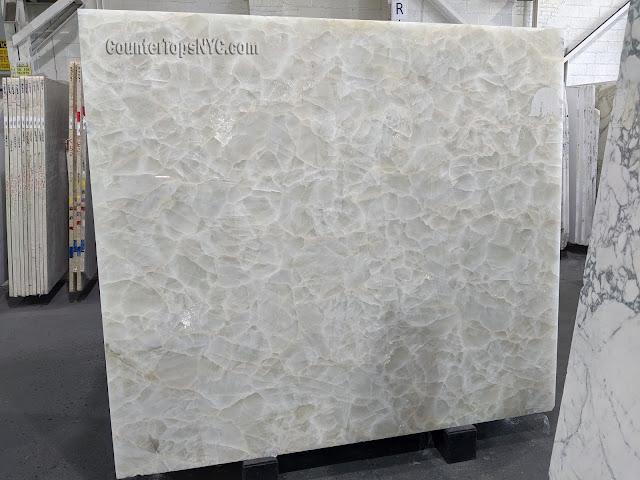 Crystal White Onyx Slab NYC