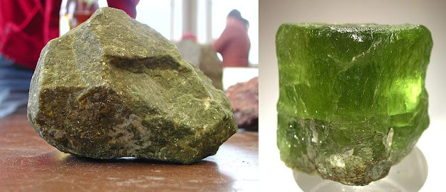 Olivine - rock-forming mineral of Dunite