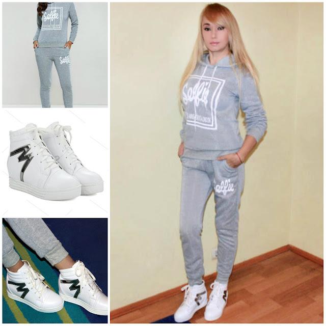 My Sport Style with SammyDress / Спортивный костюм и высокие кроссовки / отзывы