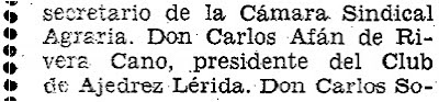 Sobre Carlos Afán de Ribera Cano, Diario de Lérida, 3/11/1968