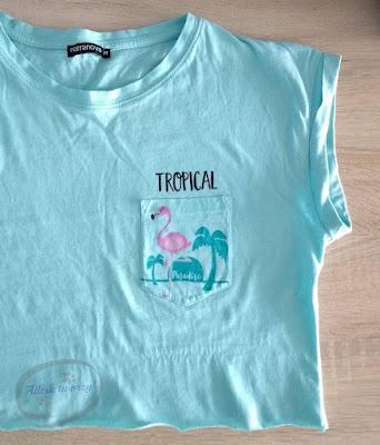Crop top bez szycia DIY przeróbka t-shirtu  - Adzik tworzy