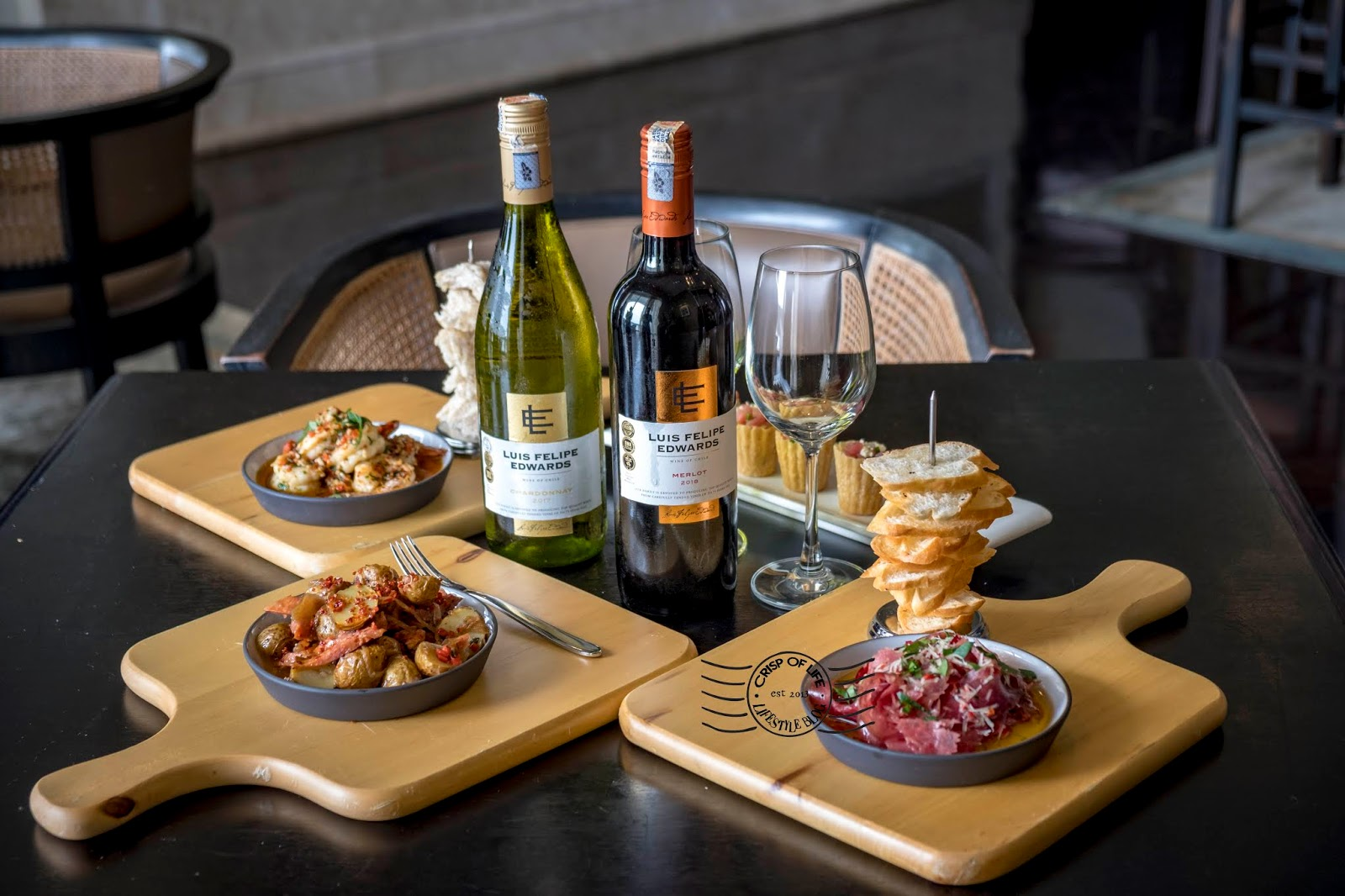 Eastern & Oriental Hotel Re-invented Tapas Menu at Planters Lounge