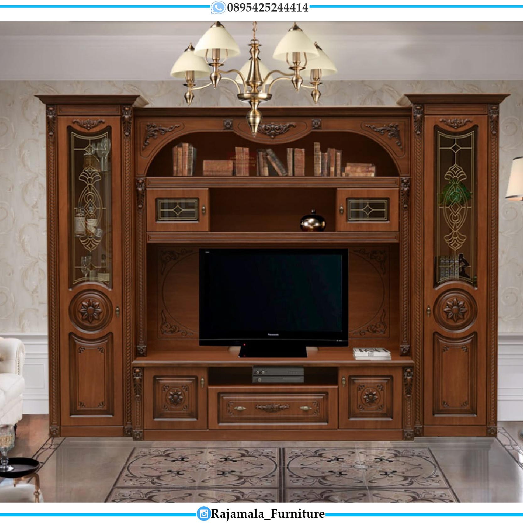 Desain Bufet TV Mewah Luxury Classic Jepara RM-0098