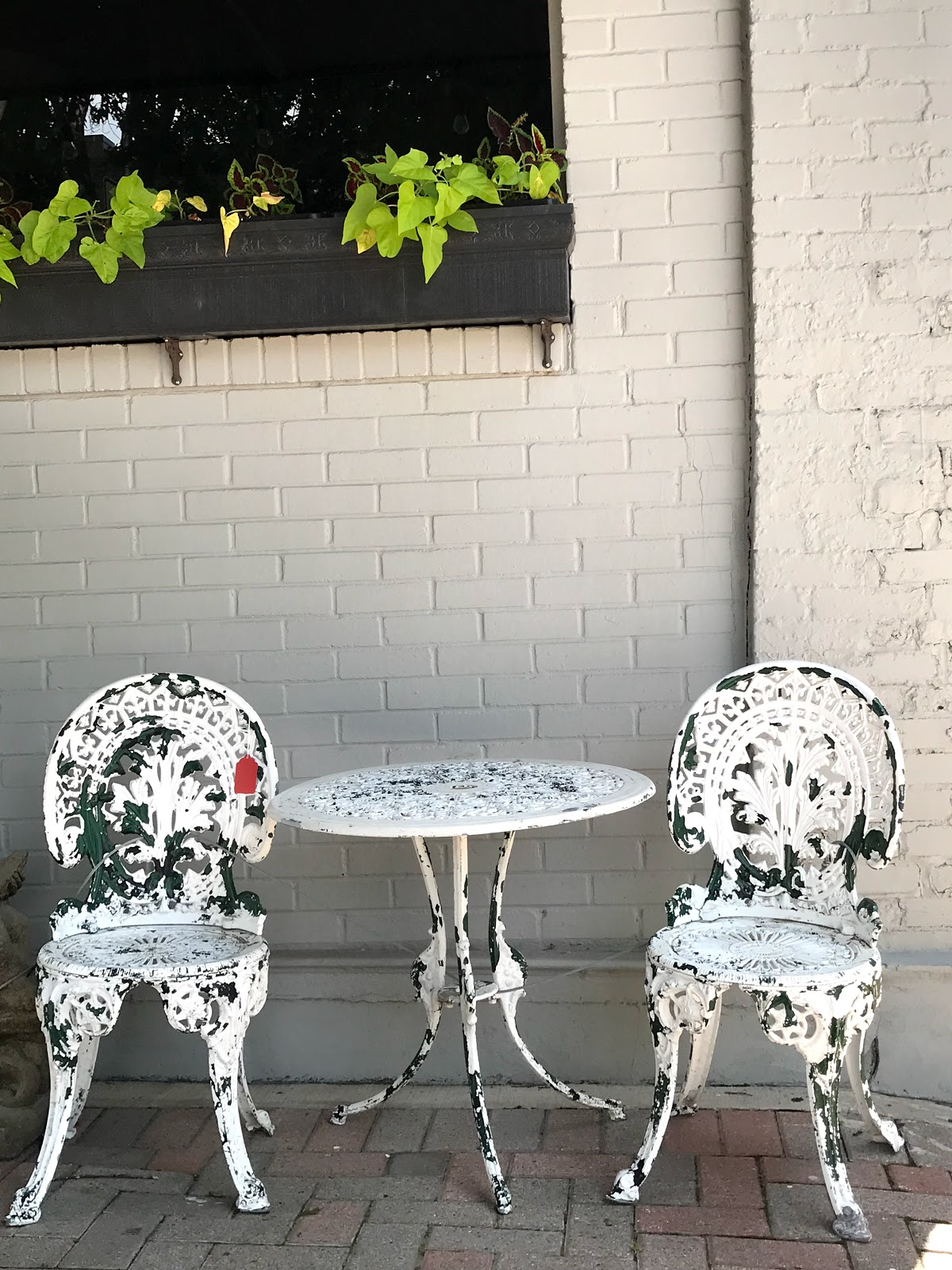 Image: Being Forty Something:White table and chairs outside: Picture taken by Tangie Bell. seen first on bits and babbles blog. I Thought Jada Pinkett Smith Was Lying About Crying 45 Days Until It Happened To Me!