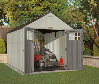 lawn tractor storage shed
