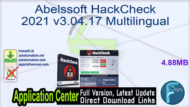 Abelssoft HackCheck 2021 v3.04.17 Multilingual