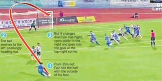 Video: Gol Tendangan Bebas Dahsyat Faiz Subri, Pemenang Puskas Award 2016