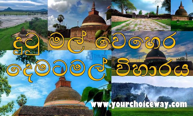 දුටු මල් වෙහෙර - දෙමටමල් විහාරය ☸️🙏😇 (Dematamal Viharaya) - Your Choice Way