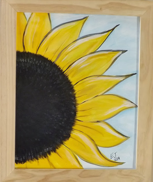 Getting Ready for Summer: New Sunflower Painting Created Today