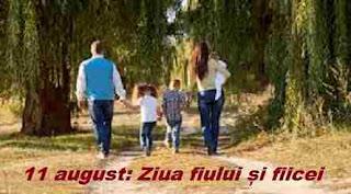 11 august: Ziua fiului și fiicei