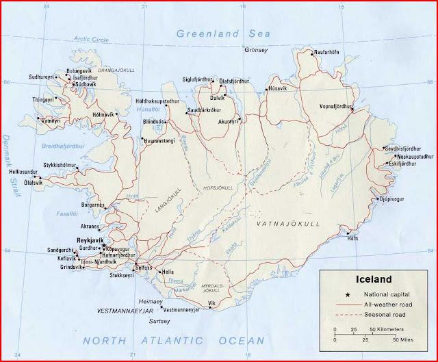 Gambar Peta politik Islandia