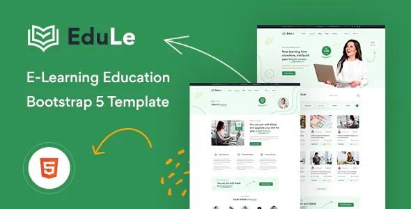 Best e-Learning Website Template HTML Version