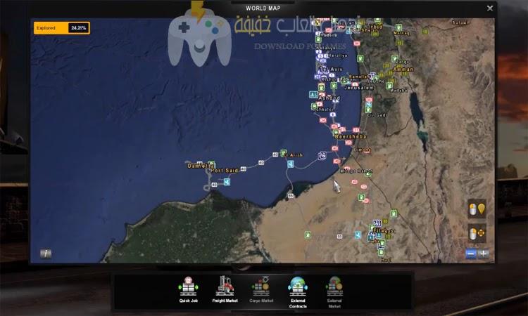 تحميل لعبة الشاحنات Euro Truck Simulator 2 مضغوطة برابط مباشر