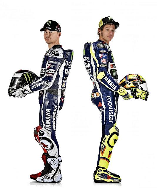 Foto Valentino Rossi dan Jorge Lorenzo Saat Prentasi Tim Yamaha Movistar MotoGP 2016