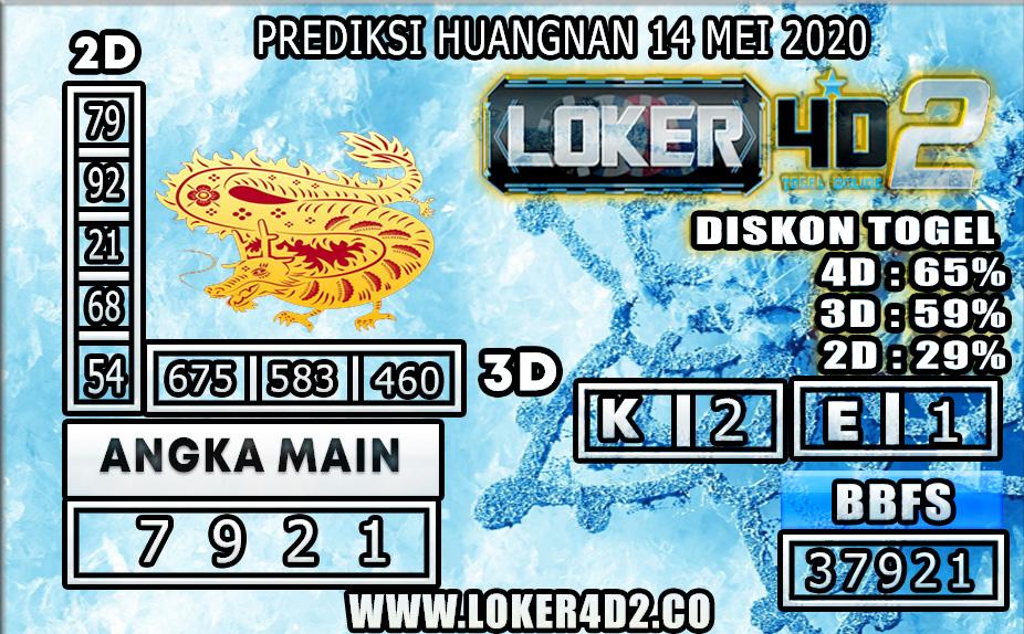 PREDIKSI TOGEL HUANGNAN LOKER4D2 14 MEI 2020