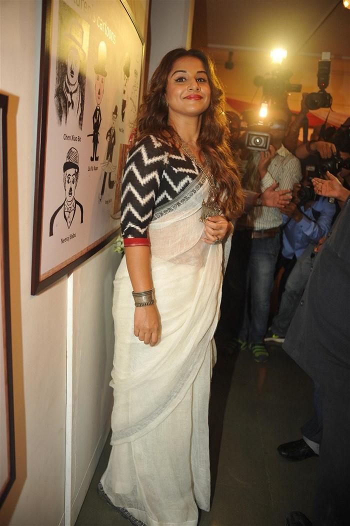 Actress Vidya Balan Cute in Saree