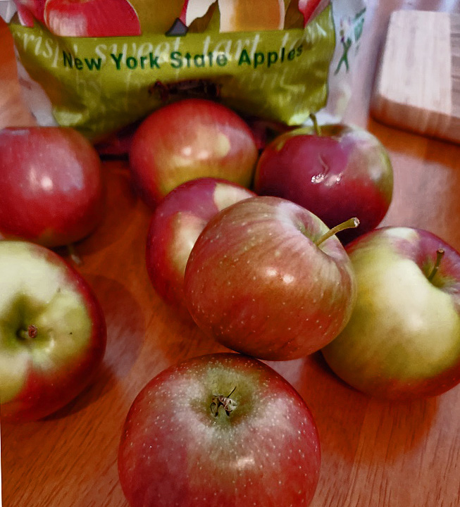 this is 5 lbs of mcintosh apples from New York State