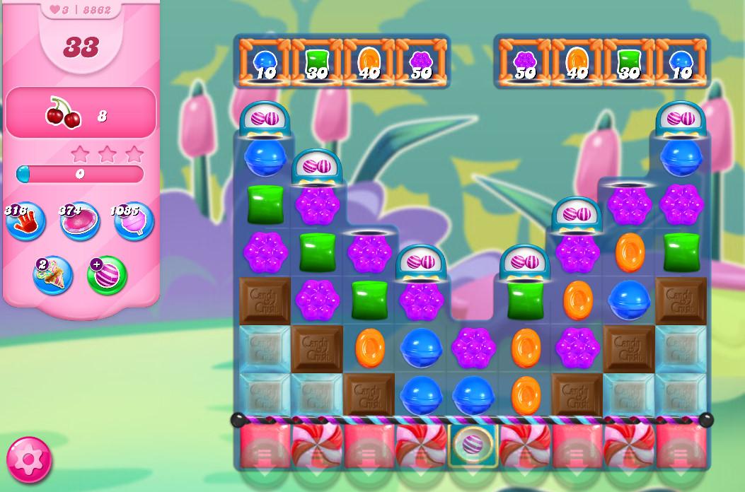Candy Crush Saga level 8862