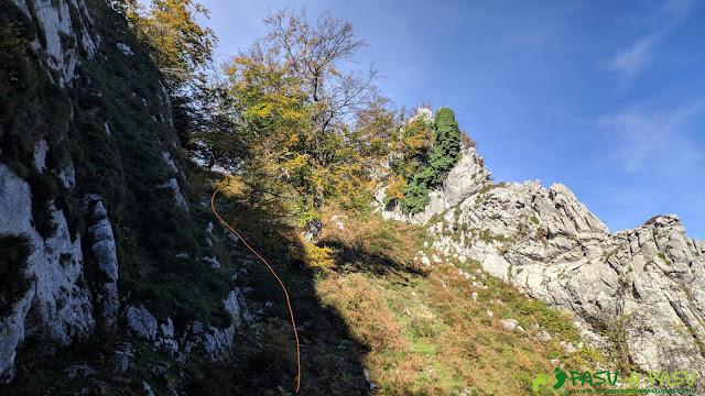 Repecho subiendo al Pico Formoso