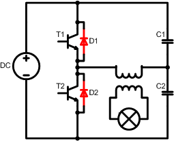 Half Bridge with optional flyback protection diodes
